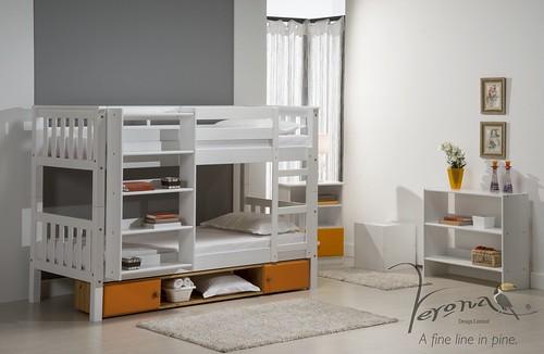 Barcelona Bunk Bed Whitewash - BUNKBARN3000WWW RS9