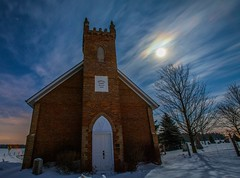 Moonlight Church.. (VNR Photography) Tags: longexposure trees winter moon snow ontario canada cold ice church night clouds canon fullmoon orangeville canoneos5dmarkii andrevonnickisch