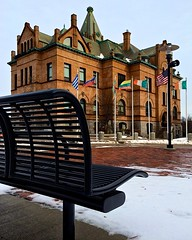 Bench @ City Hall (Timothy Valentine) Tags: work bench cityhall monday 0114 brocktonma iphone5sbackcamera412mmf22 iphone36530