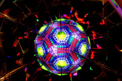 Light ball (Andy Coe) Tags: light colour reflection ball painting lights bright image sony shapes mirrors kaleidoscope sphere alpha multi a77