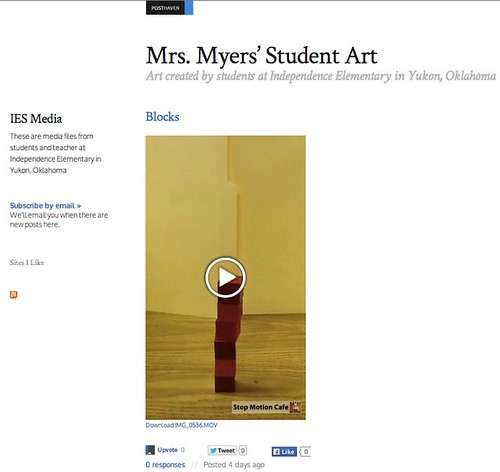 Mrs. Myers' Student Art - on Posthaven by Wesley Fryer, on Flickr
