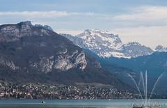 Lake & Mountain (Lalykse) Tags: mountain lake snow annecy water montagne boat eau lac neige bateau 70300 nikond3200