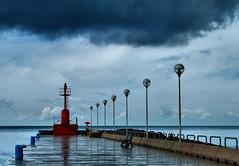 In un giorno di pioggia... (Sante sea) Tags: sea italy roma rain italia mare nuvola pioggia molo peer fiumicino cluods