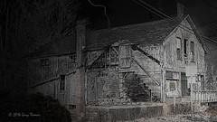 STORMY NIGHT (OH306) Tags: ohio blackandwhite abandoned photoshop neohio