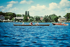 Rowing (Simson_Petrol) Tags: lake berlin film sports sport training boat xpro fuji row rowing fujifilm watersports fujinon scull edit havel wannsee apsc mirrorless xpro1 vsco xtrans vscofilm xproq