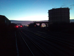 Sunrise (Bournemouth 71B / 70F) Tags: wood abandoned overgrown neglect ties concrete rust track quiet crossing silent empty clips rusty rail railway line cast points infrastructure rails disused sleeper crossings ballast sleepers turnouts trackbed fastenings fishplates pandrol perminentway