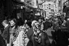 Pedestrian Street (Miguel Virkkunen Carvalho) Tags: street city light people urban blackandwhite bw sunlight composition digital canon turkey photography eos march daylight europe shadows faces outdoor faades crowd middleeast pedestrian istanbul shops turkish bulidings sultanahmet photooftheday picoftheday 2014 bestoftheday 1000d canoneos1000d