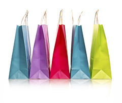 Shopping bags isolated on white (shelbydphotobiz) Tags: reflection shopping paper sale clr objects nb gift present variety cp onwhite selling consumerism isolated multicolor hz paperbag shoppingbags designelement