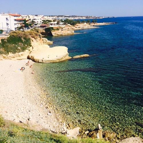 #greece #crete #sea #beach #sand #bay #sky #waves #travel #trip #summer2015 #honeymoon #nofilter