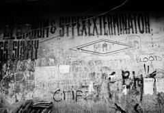 Dumaguete (Streets of Looc) (nico.padayhag) Tags: street old blackandwhite bw white black streets monochrome writing 35mm island photography graffiti photo asia raw pacific kodak outdoor philippines gritty dumaguete snapshots rodinal ilford primal