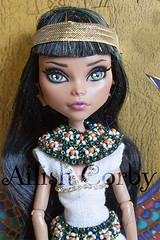 Cleopatra (AilishCorby) Tags: monster high ooak egypt full egipto custom nilo repaint