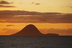 Whale island (Magryciak) Tags: ocean sunset sea newzealand sky orange colour canon outdoors eos golden glow northisland 2015 whakatane ohope