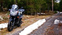 Winter series (Neticola) Tags: suzuki vstrom wee neticola trail abantos ride days motorcycle bike