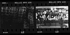 Łódź jak malowana. Gdzieniegdzie. (winogrono_w_oku) Tags: łódź film bw ishootfilm genative monochrome rollei rolleirpx100 rpx rodinal agfa skan scan helios 35mm 50mm lens camera vintage retro dworzecłódźfabryczna fabryczna analog analogue blackwhite city poland prl design train station lodz multipleexposure tripleexposure