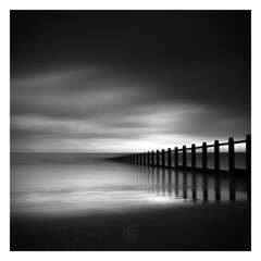 Sand Bars (picturedevon.co.uk) Tags: dawlishwarren teignbridge devon beach sand sea waves bw bnw grey sky clouds water mono fineart le longexposure ndfilter minimal blackandwhite weather coast canon motion