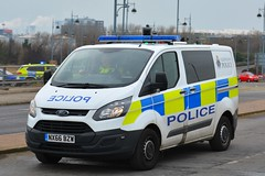 NX66 BZW (S11 AUN) Tags: cleveland police ford transit incident response irv cell cage station lockup van 999 emergency vehicle nx66bzw