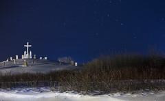 Cimetière de Percé (Danny VB) Tags: percé cemetery cimetière snow neige winter hiver night gaspesie quebec canada canon 6d