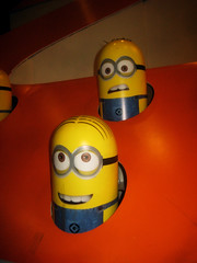 Despicable Me 2 Whack A Mole Minion Game Standee  0204 (Brechtbug) Tags: street new york city nyc 2 two game me yellow computer movie poster theater with theatre cartoon billboard lobby animation critters amc mole 34th whack gru sequel despicable minion standee henchmen standees 2013 a 05202013