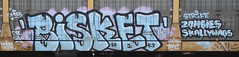 Bisket (Prof. Mortus DeNali) Tags: street art bench graffiti paint tag caps piece burner bomb freight throw krylon autorack bisket rusto ironlak