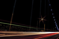 Traffic Lions Gate Bridge 1 (insomniac199) Tags: nightphotography bridge vancouver gate long britishcolumbia lions exposures