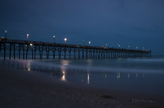 Blue Hour Pier - 051913-051859-RGA (Glenn Anderson.) Tags: ocean pier fishing bluehour topsailisland surfcity d600 waterlongexposure