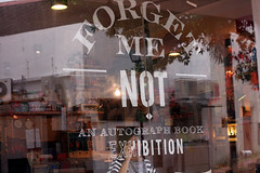 Jo's hand drawn typography on our store's glass window display. (the little drm store) Tags: school red roses birds typography fly high poem friendship graduation exhibition retro nostalgia nostalgic forgetmenot joanne lim autographbook
