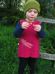 Heart Felt fuchsia dragonfly wool tunic (Heart felt) Tags: wool oscar dragonfly recycled handmade felt heartfelt tunic