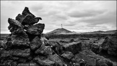 Behind the troll (Julien Ratel ( Jll Jnsson )) Tags: blackandwhite bw white black canon landscape lava blackwhite iceland tokina erosion government paysage controversy reykjanes trolls basalt islande lave icelandic erode reykjanesviti landslag geothermy 1224f4 reykjanesta gunnuhver icelandicnature eos7d blueju38 julienratel lveldisland julienratelphotography landslagsmynd blueju islenski