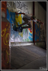 Mathias Wallride (FloArmengaud) Tags: street wall underground 50mm tag skate skateboard backside wallride