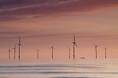 Power cut. (paul downing) Tags: sunrise nikon northsea filters hitech windfarm redcar 0609 gnd coastaluk pd1001 d7000 pauldowning pauldowningphotography