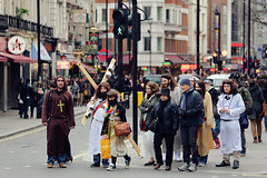 Oh, Jesus... ([~Bryan~]) Tags: street uk england london easter crossing christ cross cosplay candid jesus streetphotography crossroad zebracross easterholiday