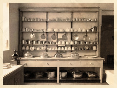 S00158 - Country house kitchen, mid 19thC (axel hydre) Tags: english heritage texture kitchen overlay pots dresser grinder pans audleyendhouse jellymolds nostalgiawithclarity