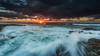That is what learning is. You suddenly understand something you've understood all your life, but in a new way. (Christolakis) Tags: seascape clouds sunrise rocks wave australia nsw hastingspoint 1740f40l hitechfilters tweedshire reversegradfilter canon5dmklll