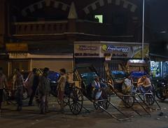 Rickshaw Stand - D7K 5042 ep (Eric.Parker) Tags: india kolkata bengal calcutta 2012 inida westbengal