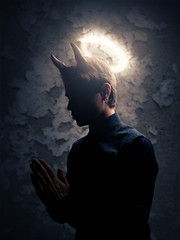 Holy Devil (Rubn Chase) Tags: portrait selfportrait art photomanipulation self religious photography