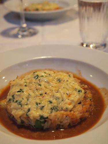 ズワイ蟹と帆立貝のフランス風オムライス