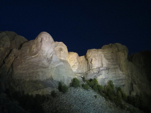 Mt. Rushmore at Night, From FlickrPhotos