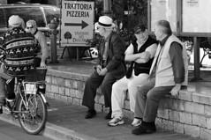 Retirees #2 (Franco & Lia) Tags: street blackandwhite bw noiretblanc bn sw umbria biancoenero blackdiamond norcia retirees pensionati blackwhitephotos 2485f284 stphotographia virgiliocompany