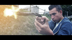 Woodshot. (PEHEM Production) Tags: photoshop canon movie fire brother weapon hd bullet effect gunfire 60d