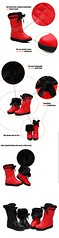 SB-0001-รองเท้าบูทหนังเกรดเอกันน้ำบุขนเฟอร์หนานุ่มอบอุ่นสบายด้านในสามารถพับเป็นบูทสั้นน่ารัก