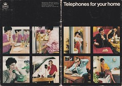 GPO home phones 1968 (sunbeam31) Tags: blue two green home kitchen yellow bells jack office post telephone parliament plug british 105 concord std exchange tone engineer 107 answer gpo telecom telephones subscriber gec topaz telecommunications 706 741 trimphone planset dialling