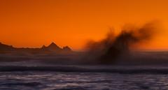 Pacifica (markvcr) Tags: ocean sanfrancisco california county sunset sea orange beach san surf unitedstates rocky wave surfing pacificocean bluffs westcoast mateo halfmoonbay pacifica rockawaybeach lindamarbeach sunrays5