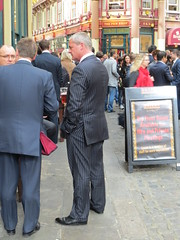 Hidden Camera - Businessmen 02 (TBTAOTW2011) Tags: camera boss man london beer leather businessman daddy shoe shoes dad market cigarette candid tie gucci business suit hidden belly mature pinstripe tassel horsebit businessmen leadenhall loafers loafer captoe