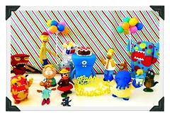 Happy Birthday!!!!! (DollyBeMine) Tags: party cute cake balloons toy mouse colorful stripes southpark celebration mice polkadots card domo kawaii figure happybirthday futurama cassandra thesimpsons cinderella zoidberg uglydoll greeting qee homersimpson butters jaq ralphwiggum wedgehead cleetus yakkydoodle yogithebear musicalrobotdevil