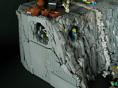 Lego Rock Raiders HQ [MOC] (=DoNe=) Tags: old mountain rock model power lego parts rr cave custom ever biggest raiders miners 8000 moc 7000