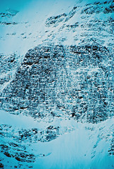 Icy Cold Mountain (aitramah) Tags: blue mountain canada mountains cold rock vertical rockies alberta icy verticallandscape verticalphotography verticalnature