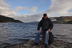 loch ness monster (werewegian) Tags: portrait smile monster scotland highland loch ness theotheralan fortaugustus oct13 werewegian
