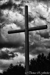 Storm Clouds and Cross (travelphotographer2003) Tags: blackandwhite bw cloud wet rain weather clouds colorful cross faith fineart hill religion stormy westvirginia serenity stormysky darkclouds freshness stormclouds refreshment appalachianmountains purity tranquilscene beautyinnature solitudealleghenymountains