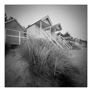 Beach huts, Wells-next-the-Sea (pinhole)