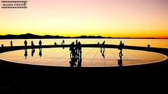 The Greeting to the Sun (malioli) Tags: sunset sun art canon europe dusk silhouettes croatia installation zadar greeting the malioli